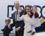William e Kate com os filhos, os príncipes George e Charlotte