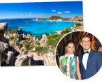 Mariana Goldfarb e Cauã Reymond: férias na Sardenha, Itália