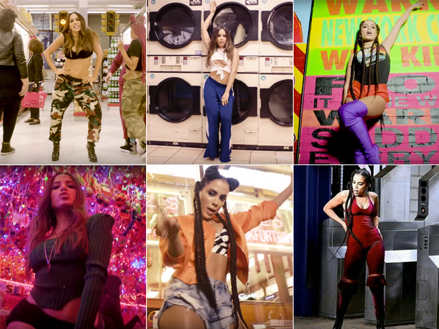 Os seis looks usados por Anitta no clipe