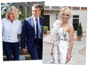 Por Julian Assange, Pamela Anderson convida o casal Macron para um jantar