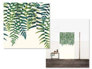 Lá em Casa: verde nas paredes com o papel samambaia Attilio e Gregório