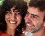 Antônia Pellegrino e Marcelo Freixo: namoro oficializado nas redes sociais