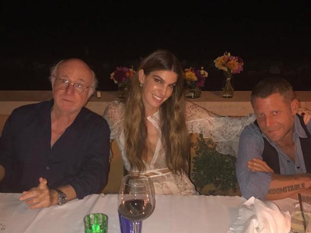 Bianca ao lado do pai, Ruy Brandolini e Lapo Elkann