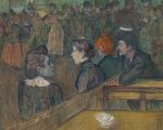 "Detalhe da tela ""Moulin de la Galette"", de 1889"