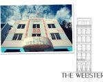 Fachada da The Webster Miami e croqui do novo endereço em Nova York