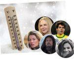 Celebridades no frio: elas também sofrem