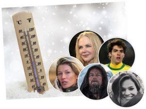 Tá com frio? Confira 5 celebs que driblaram as mais gélidas situações para vencer!