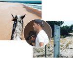 Madonna esteve em Comporta, Portugal, nesta quinta-feira com o namorado Kevin Sampaio e publicou no Instagram essas duas imagens em sua página pessoal