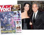 Amal e George Clooney e a capa da