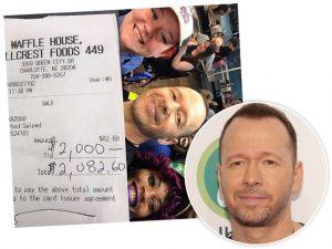 Donnie Wahlberg e o recibo da gorjeta generosa