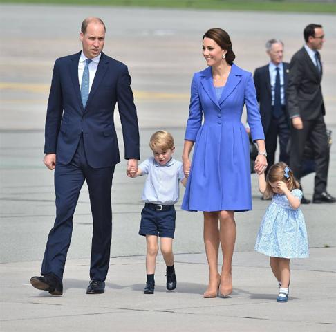 A família real em tons de azul