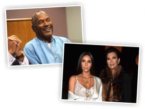 O.J. Simpson, e Kim Kardashian com Kris Jenner