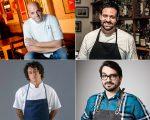 Os chefs Juliano Valese, Marcelo Corrêa Bastos, Dário Costa e Lucas Corazza