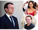 Emmanuel Macron, Bono e Rihanna: semana agitada