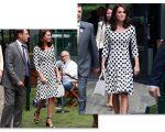 Kate Middleton em Wimbledon, nesta segunda-feira