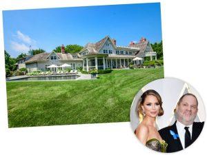 Harvey Weinstein e Georgina Chapman, e mansão deles nos Hamptons