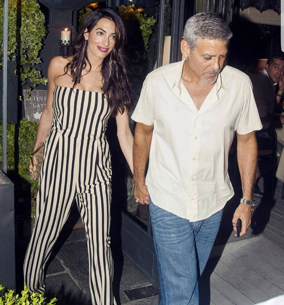 George Clooney e Amal doam R$ 3,1 milhões a fundação nos EUA