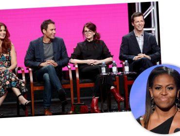 """Michelle Obama pode fazer ponta no aguardado retorno de """"Will & Grace"""""""