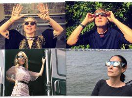 As melhores reações dos famosos nos EUA com o 1º eclipse total solar em 99 anos