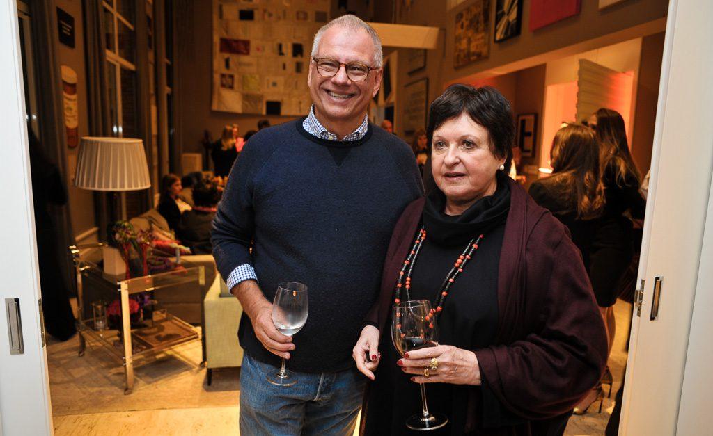 Fernando Stickel e Luisa Strina