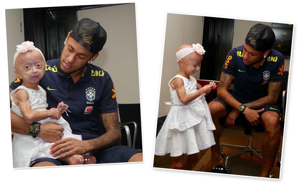 Neymar realiza sonho de fã