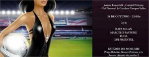 Uma turma de glamurettes já tem programa marcado nesta sexta-feira. É que acontece no estádio do Morumbi, precisamente no Santo Paulo Bar, mais uma edição da festa Cleriquot de Carolina Campos Salles, Gabriel Nehemy, Joana Lunardelli e do DJ Gui Pimentel.