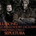 Parceria de peso: Sepultura lança boardshort by Billabong