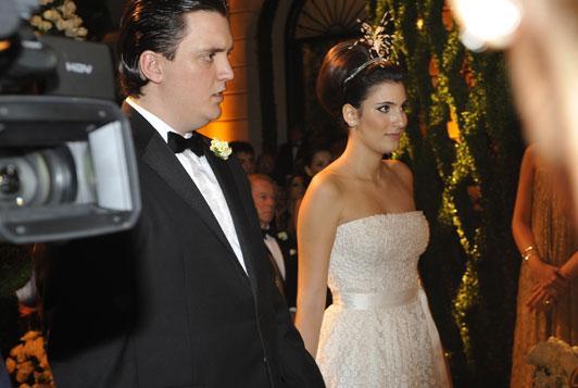 Os noivos Pepeu Corrêa e Eduarda Derani