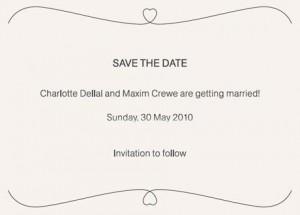 Charlotte Dellal vai se casar com Maxim Crewe no dia 30 de maio, em uma fazenda na Inglaterra.