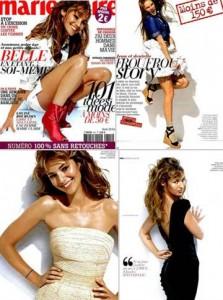 """""""Marie Claire"""" francesa abole retoques de Photoshop na edição de abril."""