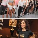 Final do desfile Track&Field e Letícia Sabatella no lounge Glamurama por Mantuanni Casa: ajuda fashion