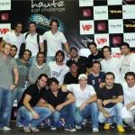 Os pilotos do Haute Kart Challenge: competição amiga