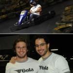 Rodrigo Rosset, Ricardinho Goldfarb e Pedro Biagi: no topo do ranking do Haute Kart Challenge