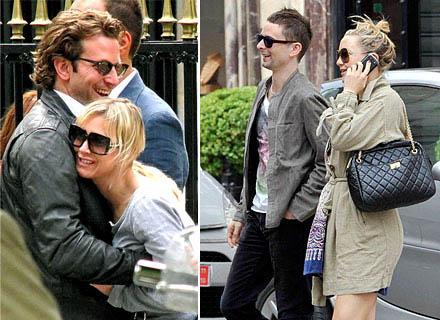 Renée Zellweger e Bradley Cooper, Kate Hudson e Matthew Bellamy: jantar em Paris