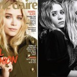 "Mary-Kate, na ""Marie Claire"", e as irmãs clicadas pelo Hedi Slimane para a ""Harper's Bazaar"": boas de marketing"