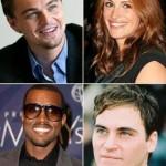 Leonardo DiCaprio, Julia Roberts, Kanye West e Joaquin Phoenix: wanted by the public