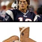 Tom Brady e as UGGs: combinação estranha