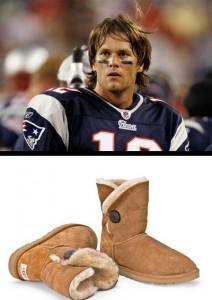 Tom Brady vai fazer propaganda de botas UGG.