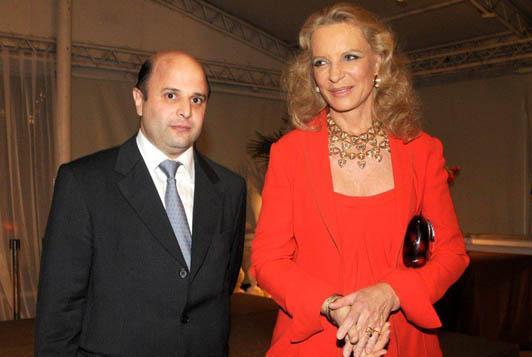 João Vidigal e a princesa Michael de Kent