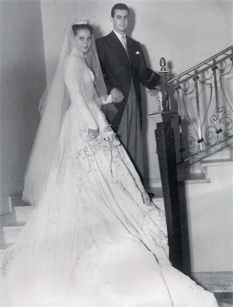 Maricy e Romeu Trussardi Filho, em 1954: são 57 anos e uma família pra lá de numerosa