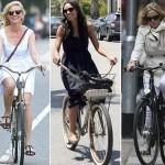 Kirsten, Rosario e Kate: elas vão de bicicleta