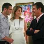 Romeu e Adriana Trussardi com Fernando Campana: jantar de homenagem