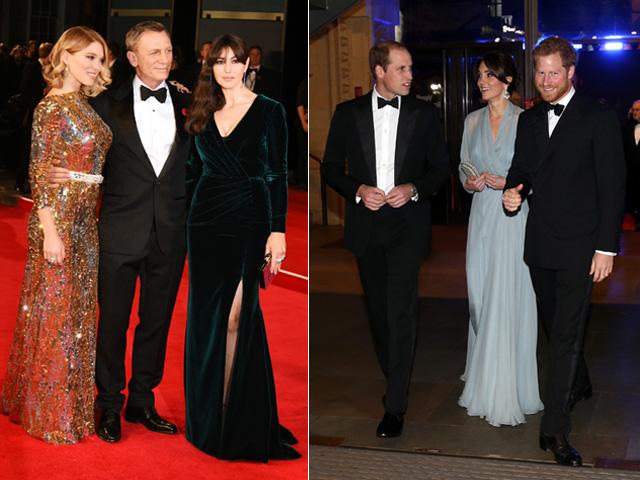 Daniel Craig, Monica Belluci e William, Kate e Harry  ||  Créditos: Getty Images