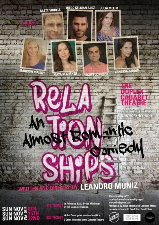 """O cartaz da peça """"Relationships, Almost Romantic""""    Créditos: Divulgação"""