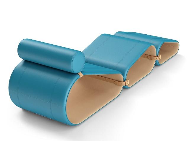 A Lounge Chair em azul || Créditos: Divulgação
