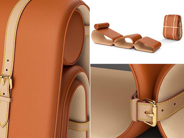 Os detalhes da Lounge Chair, da Louis Vuitton || Créditos: Divulgação