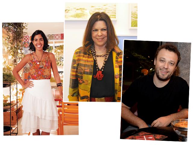 Bela Gil, Vanda Klabin e Thomas Troisgros || Créditos: Juliana Rezende, Paulo Freitas e Divulgação