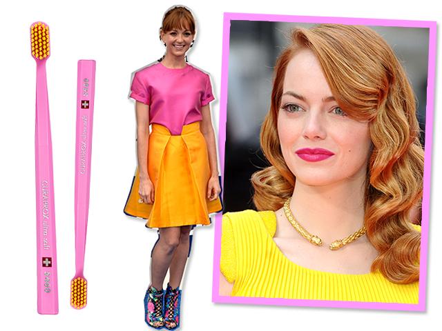 cine rosa e amarelo