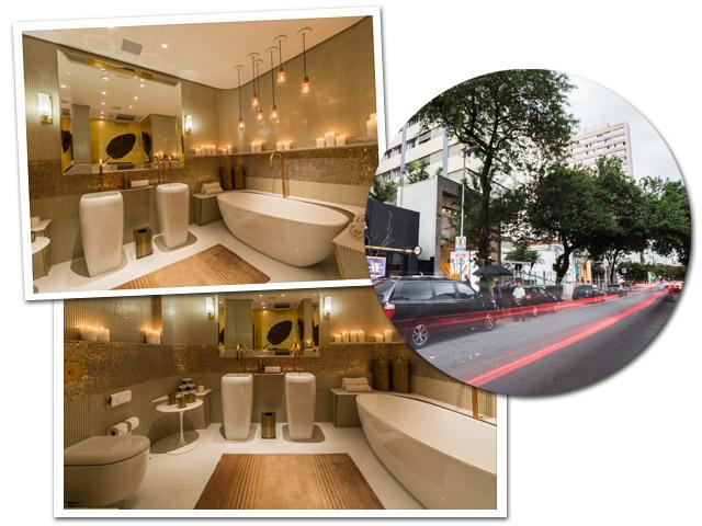 O banheiro de  luxo é o novo  point da Oscar Freire  ||  Créditos: Divulgação