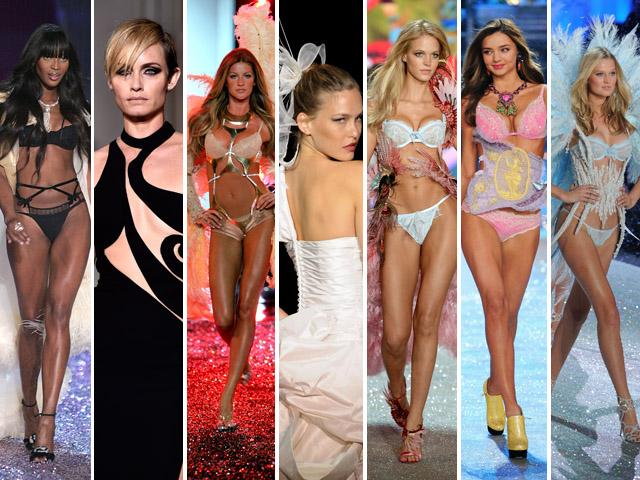 Naomi Campbell, Amber Valletta, Gisele Bündchen, Bar Refaeli, Erin Heatherton, Miranda Kerr e Toni Garrn. Que casting, Leo! || Créditos: Getty Images